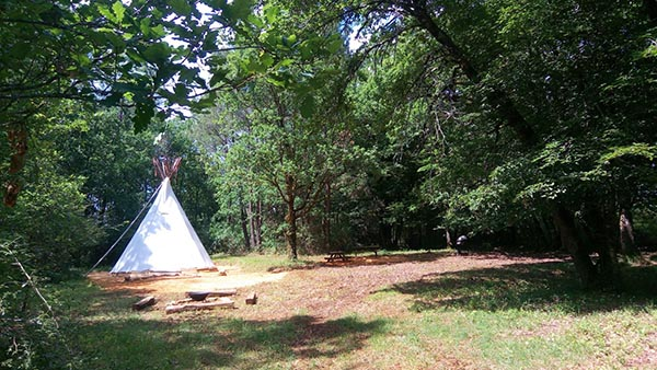Tipi du Grand Peuch Location Tipi Dordogne